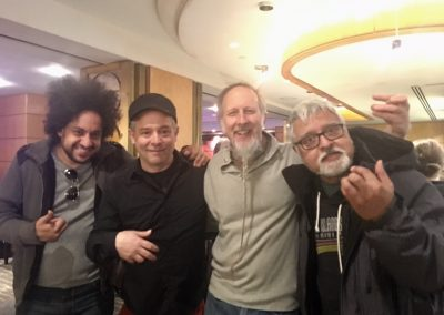 Guitar Summit at APAP (L-R): Diego Figueiredo, Will Bernard, Rolf Sturm, Fareed Haque (Photo by Jenna Mammina)