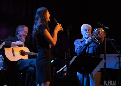 Rolf Sturm, Heather Masse & Roswell Rudd (Photo by Ilene Cutler)